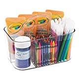 art supply caddy - mDesign Art Supplies, Crafts, Crayons and Sewing Organizer Tote - Clear