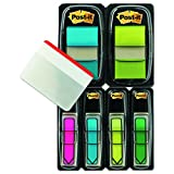 Post-it Flags and Arrow Flags Value Pack with Free Post-it Tabs, Brights, 1-Inch