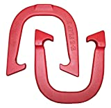 E- Z Flip II Professional Pitching Horseshoes- Made in the USA! (Red- Single Pair (2 shoes))