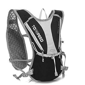 LLFS mochilas de hidratación de nailon al aire libre, bolsa de hidratación, mochilas Marathon, bolsa de agua para correr, senderismo, ciclismo, escalada, camping, carreras, color acid blue, tamaño talla única