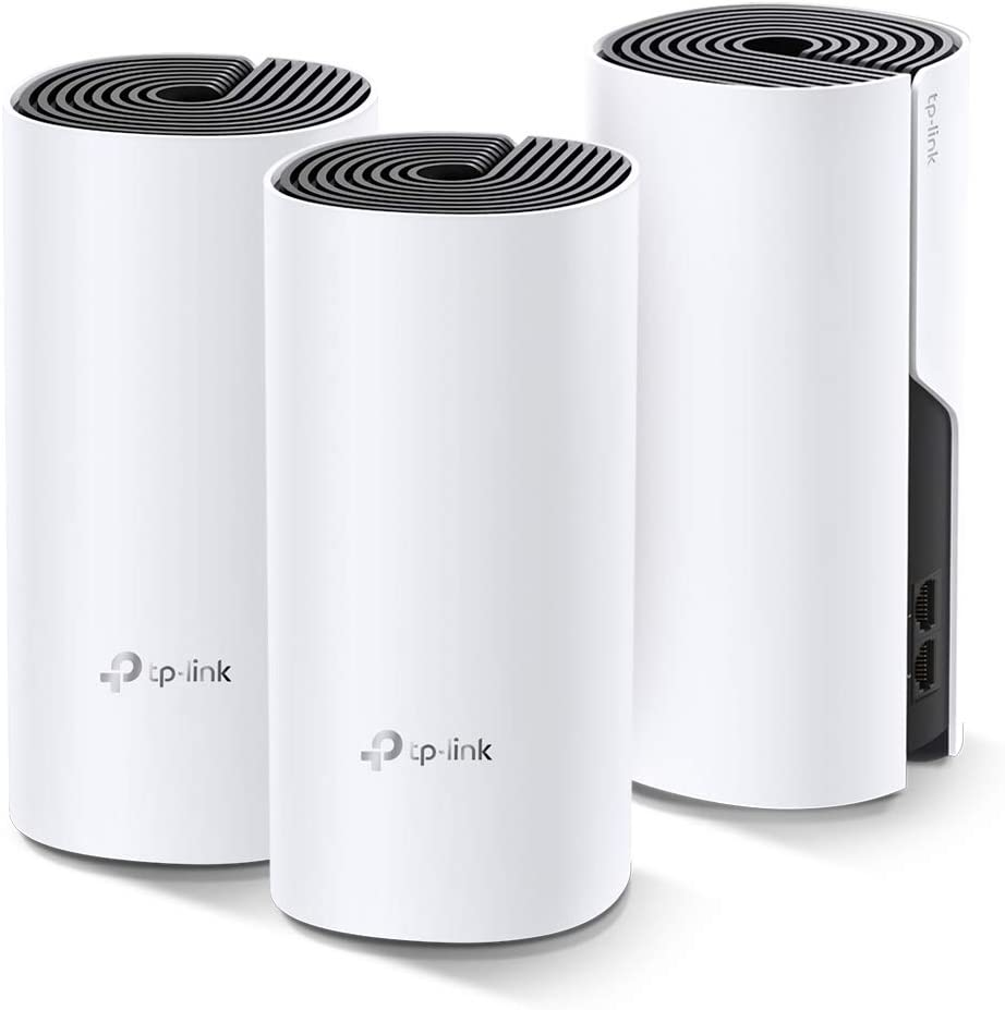 Amazon.com: TP-Link Deco Whole Home Mesh WiFi System – Up to 5,500 Sq.ft. Coverage, WiFi Router/Extender Replacement, Gigabit Ports, Seamless Roaming, Parental Controls, Works with Alexa(Deco M4 3-Pack): Computers & Accessories