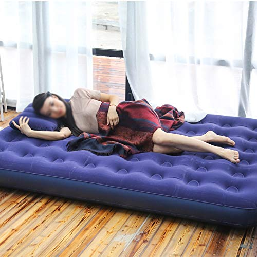 Krx Air Bed Green PVC Flocking air Bed Travel Outdoor Camping Inflatable Mattress Honeycomb Home Recliner Sofa,A from Krx