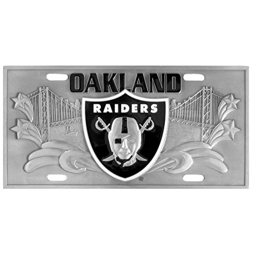 Siskiyou NFL Oakland Raiders Collector's License Plate, 12