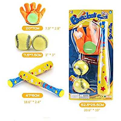 Deerbb 4 in 1 Baseball Toys with Bat Glove Tee Ball for Kids 2 3 4 5 6 7 8 10 Years Olds Up, Toddler Age 1 Birthday Gift Baby Ball Set Educational Preschool Playset for Little Boys Girls: Toys & Games