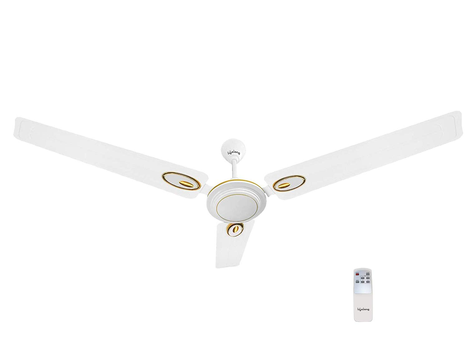 Lifelong Glide 1200 mm Semi-Décor Ceiling fan with Remote (White)   High Speed   2 Year Warranty