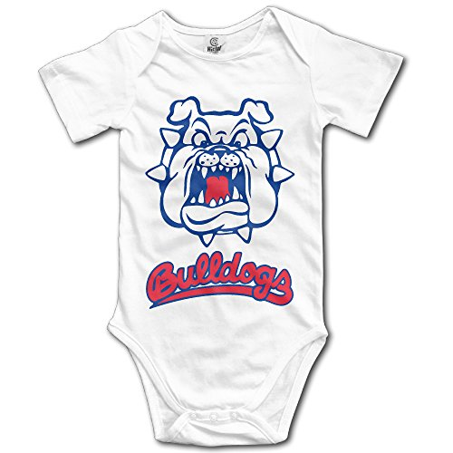Price comparison product image OOKOO Baby's California State University Fresno Bodysuits White 12 Months