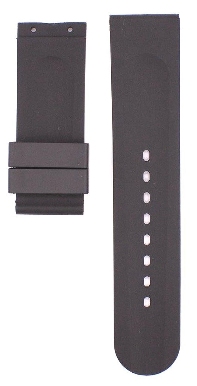 22 mmブラックゴム時計ストラップfor U 1001 Watches ubt102  B0796VFZ98