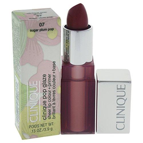 (Clinique Pop Glaze Sheer Lip Colour Plus Primer, Sugar Plum Pop, 0.13 Ounce)