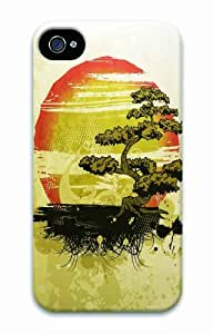 Hot iPhone 4S 3D Customized Unique Print Design Sunset Scenery New Fashion iPhone 4/4S Cases