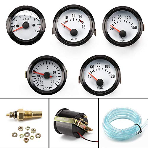 0 100PSI Auto Meter LED Car Turbo Boost Gauge PSI Pointer 2 52mm Car Gauge: