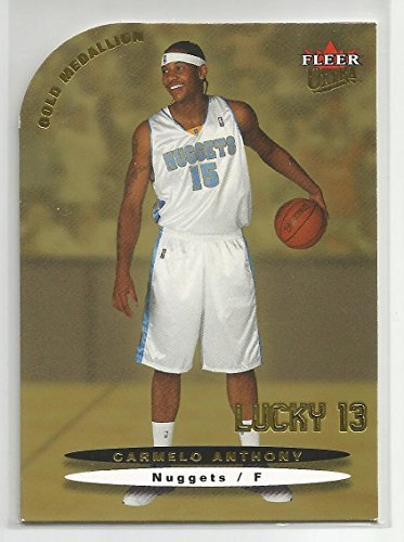 2003-04 Ultra Basketball Carmelo Anthony Gold Medallion Lucky 13 Rookie (CSC)