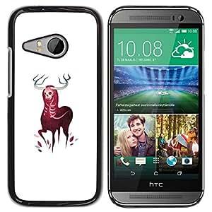 All Phone Most Case / Oferta Especial Duro Teléfono Inteligente PC Cáscara Funda Cubierta de proteccion Caso / Hard Case HTC ONE MINI 2 / M8 MINI // Horned Elk Deer