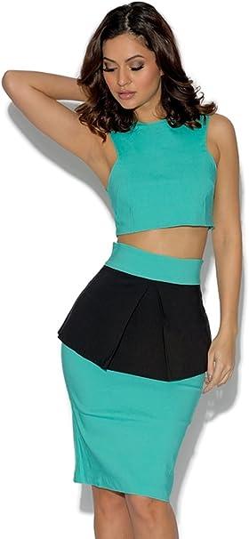 Vesper Crop Top y Falda Skirt: Amazon.es: Ropa y accesorios