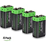 9V Lithium Battery, Enegitech 4 Pack 1200mAh Non-Rechargeable Li-ion Battery for Smoke Detector Fire Alarm