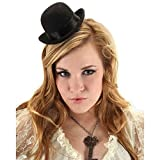 elope Mini Steampunk Costume Bowler Hat for Men and Women