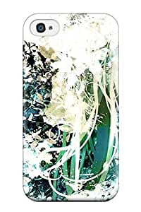 Iphone Case - Tpu Case Protective For Iphone 5/5s- Animal Butterfly Flowers Greenhatsune Mikuruuya Higashino Twintails Vocaloid White