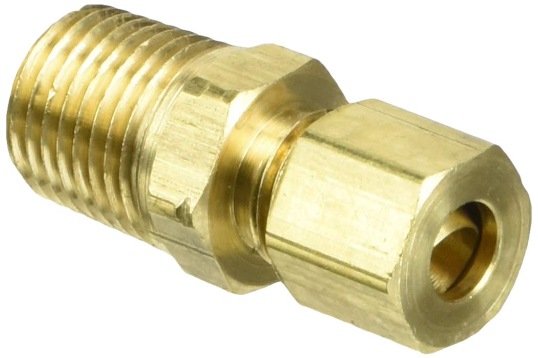 Parker Hannifin 68C-4-4 Brass Male Connector Compression Fitting 1//4 Compression Tube x 1//4 Male Thread