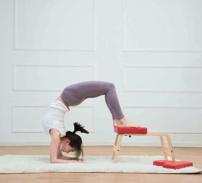 MATTE Yoga Headstand Auxiliar Banco - Gimnasio Soporte Yoga ...