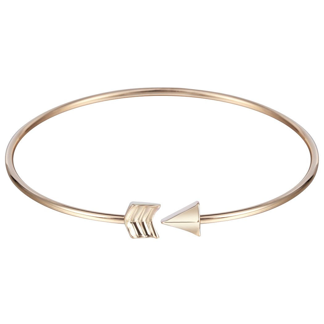 Powerful Charm Plating Alloy Open Arrow Bracelet Adjustable Cuff Bracelet 0310QGP98O2