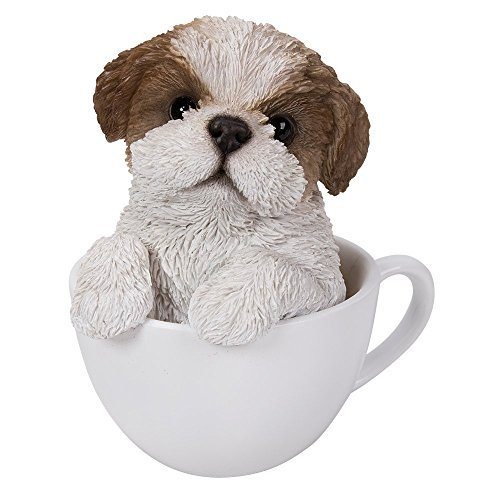 rable Teacup Pet Pals Puppy Collectible Figurine 5.75 Inches (Shih Tzu) ()