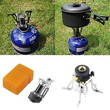 Silverfer Portátil Plegable Mini Camping Supervivencia Horno de Cocina Estufa Quemador de Gas Estufa de Acero