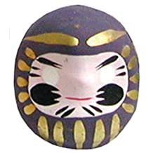 Miniature Daruma Doll (Japanese Good-Luck Charm) Purple