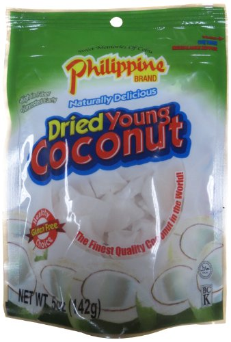- Philippine Brand Dried Young Coconut Snacks, 5 Ounce