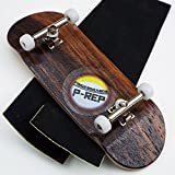 greenapricot P-Rep EBONY 34mm Complete Wooden Fingerboard w CNC Lathed Bearing Wheels …