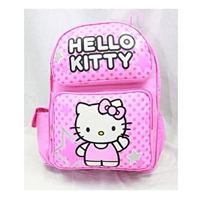 "Licensed Hello Kitty Medium 14"" School Backpack Bag - PINK STAR cheap"
