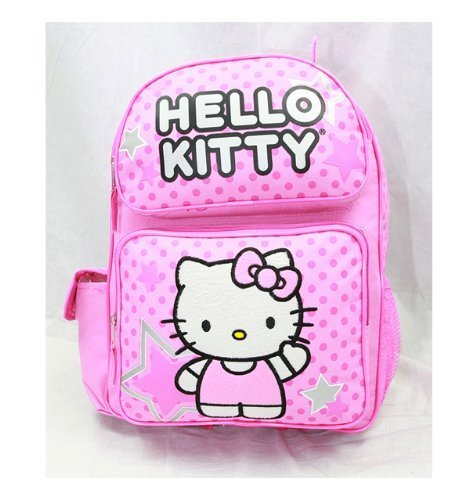 3fd7132808 Image Unavailable. Image not available for. Color  Licensed Hello Kitty  Medium 14 quot  School Backpack Bag - PINK STAR