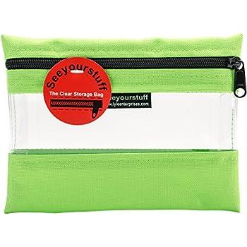 "Lyle Enterprises SYSB1-LGN See Your Stuff Bag, 6"" x 8"", Light Green"