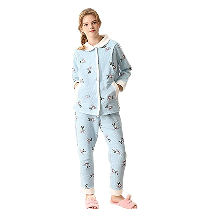 9cbe3bf6e XFentech Mujer Suave Pijama Conjunto - Maternidad Lactancia Camisón Isla de  Terciopelo Cálido Ropa de Dormir  Amazon.es  Ropa y accesorios