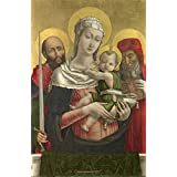 'Bartolomeo Vivarini The Virgin and Child with Saints Paul and Jerome ' oil painting, 12 x 18 inch / 30 x 47 cm ,printed on Perfect effect canvas ,this Reproductions Art Decorative Canvas Prints is perfectly suitalbe for Laundry Room artwork and Home artwork and Gifts