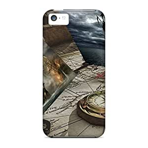Iphone Case - Tpu Case Protective For Iphone 5c- Maps Pirates