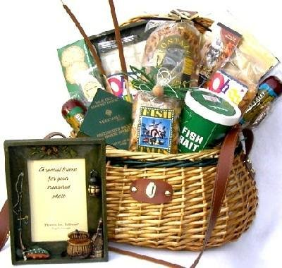 A Finer Catch Deluxe Fishing Gift Basket for Him | Men's Birthday Gift Idea by Organic Stores