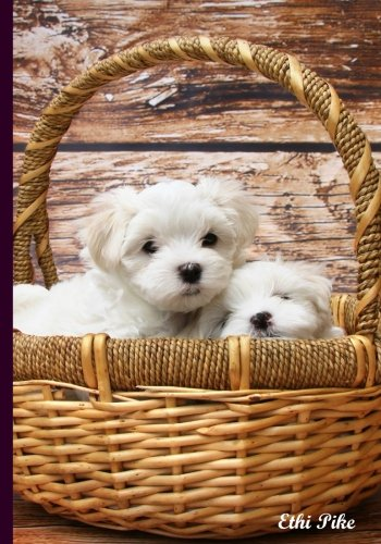 Pups In A Basket - Notebook / Extended Lines / Soft Matte Cover: An Ethi Pike Collectible Journal : Dogs