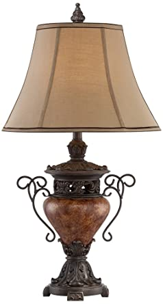 urn table lamp wood large bronze crackle urn table lamp amazoncom