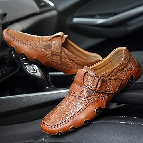 Pour Homme casual Cuir Trente Style neuf Grain Noir Spring Kmjbs En Big Chaussures Crocodile Code zpdxgwg