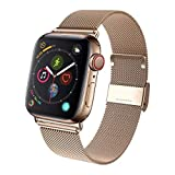 GBPOOT Compatible for Apple Watch Band 38mm 40mm, Wristband Loop Compatible for Iwatch Series 4,Series 3,Series 2,Series 1-Gold 38/40mm