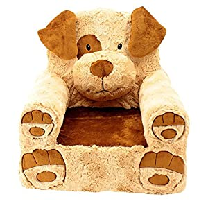 Sweet Seats Dog Plush, Tan, One Size - 51U1kdVdFxL - Animal Adventure Sweet Seats | Tan Dog Children's Chair | Large Size | Machine Washable Cover