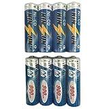 KINSUN 8-Pack Rechargeable Battery 1.2V Ni-Cd AA 900mAh for Outdoor Solar Garden Light