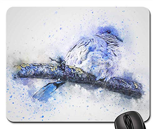 (Mouse Pad - Bird Turtledove Feathering Nature Animal Art)
