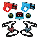 SHARPER IMAGE Ultimate 2-Player Electronic Tag Gaming Set, Includes 2 Amazing Blasters & 2 Adjustable Target Vests, Fun & Exciting Tag Kit For Kids,Red/Blue