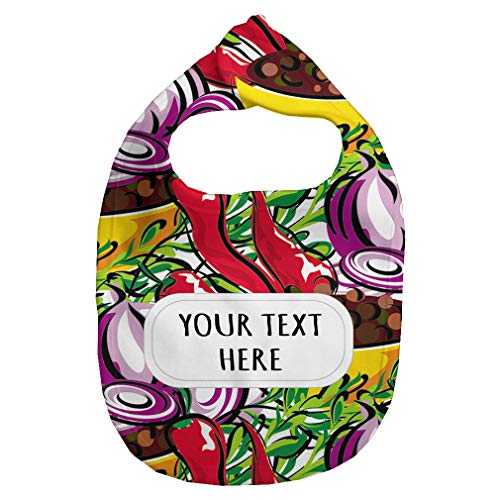 - Fleece Bib Custom Onion and Chili Seemless Pattern Unisex Children, One Size