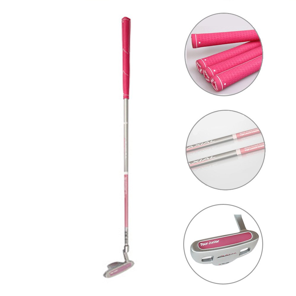 Acstar Junior Golf Putter Stainless Steel Kids Putter Right Handed for Kids Ages 6-8 (Pink, 27'' Age 6-8) by Acstar