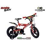 51U1lk9yR5L. SS150 Cicli Puzone Bici 14 Bimbo Rosso Dino Bikes Art. 143 GLN PRO Cross