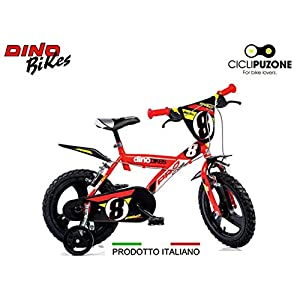 51U1lk9yR5L. SS300 Cicli Puzone Bici 14 Bimbo Rosso Dino Bikes Art. 143 GLN PRO Cross