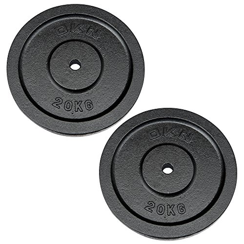 DKN Poids Disques Standard en Fonte, Weight and Quantity- 2 x 20kg