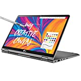 LG Gram 14T990-U.AAS8U1, 14' 2-in-1 Ultra-Lightweight Laptop with Intel Core i7 Processor and Wacom Pen, Silver