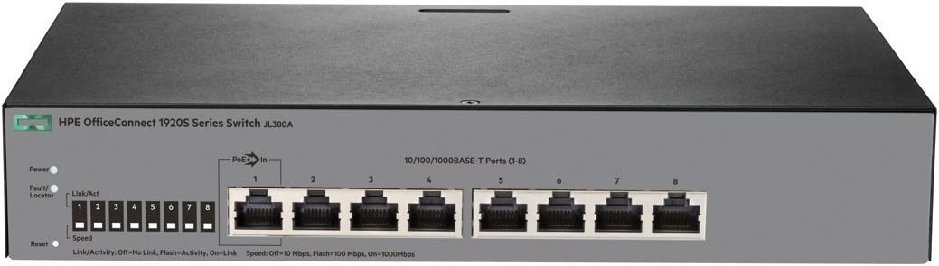 HPE Officeconnect 1920S-8G Switch Managed